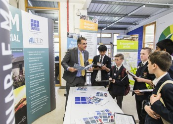 Justin Ratcliffe, CAB ceo, highlighting the sustainable benefits of aluminium to school children at a Your Green Future event at Bristol University in May 2015